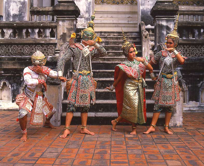 Traditional thai dance drama